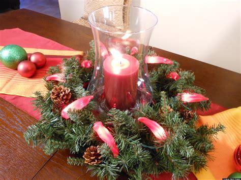 ideas  crear  centro de mesa  una corona navidena