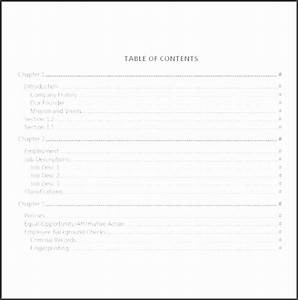 6  Ms Word Table Of Contents Template