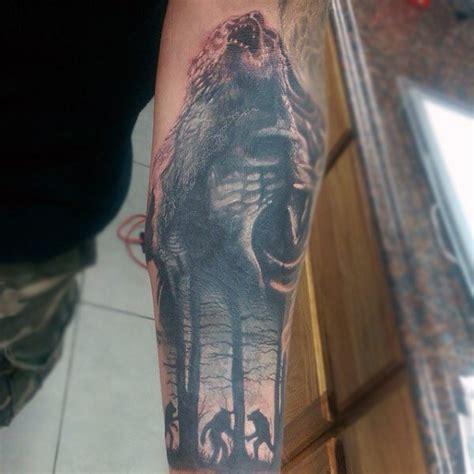 werewolf tattoo designs  men full moon folklore