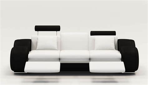 canapé cuir noir et blanc canape cuir relax noir et blanc canapé idées de