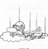 Skydiving Cartoon Coloring Outline Guy Toonaday Ecigarette Vapoteurs Repaire Vecto Rs sketch template