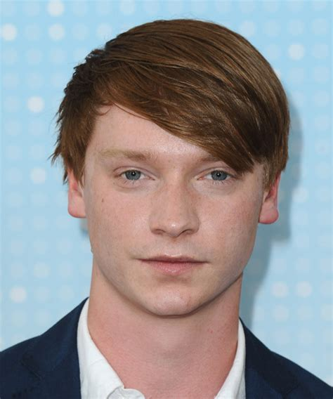 Calum Worthy Medium Straight Casual Hairstyle   Medium Red