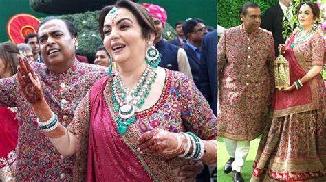 She Got Akash And Shlokas Names Stiched In Her Blouse