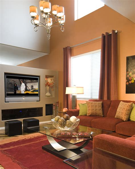 brown accent wall  living room  knockout black