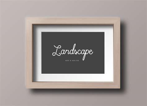 wooden photo frame mockup psd files landscape