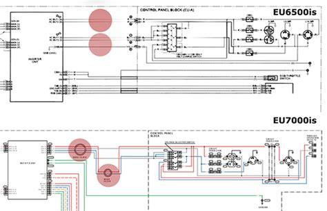 Wiring Diagram For Honda Generator by Honda Eb6500 Generator Wiring Diagram