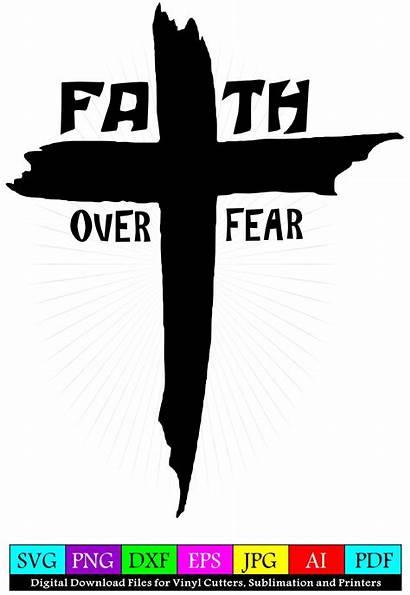 Faith Fear Cross Svg Rugged Christian Divine