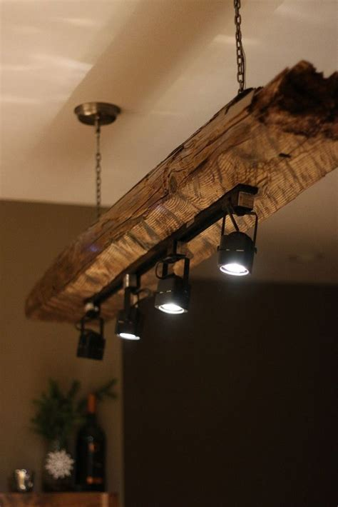 reclaimed wood and black lighting fixtures home
