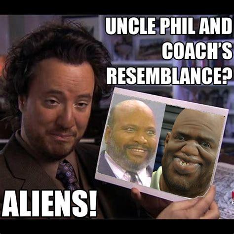 Uncle Meme - uncle phil and coach s resemblance aliens ancient aliens know your meme