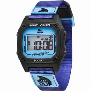 Shark By Freestyle Shark Clip Watch  Purple  Gunmetal 10019183