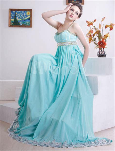 empire du mariage 10eme romantique robe de soir 233 e empire bleue faite en satin et
