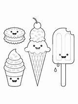 Ice Cream Coloring Scoop Stuff sketch template