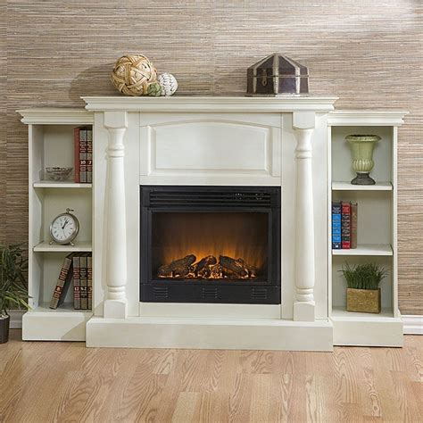 White Electric Fireplace With Bookcase by Grenoble White Bookcase Electric Fireplace With Remote