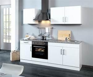 Küche 210 Cm Mit Geräten : k chenzeile varel k che mit e ger ten breite 210 cm hochglanz wei k che k chenzeilen ~ Indierocktalk.com Haus und Dekorationen