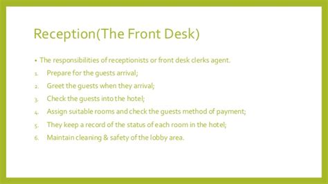 front desk officer duties and responsibilities front office department design by austin