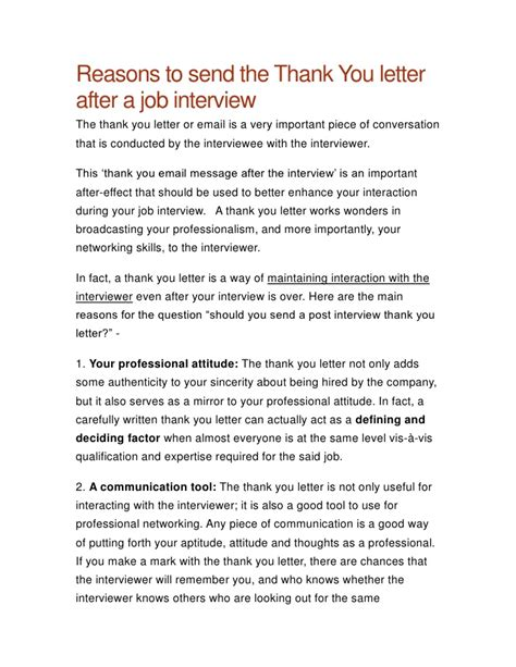 thank you letter for job interview thank you letter after a 25105 | thank you letter after a job interview 1 728