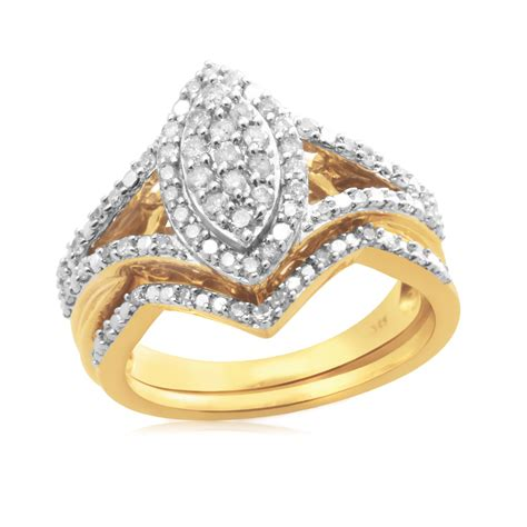 eternal treasures gold silver 1 2ct marquise