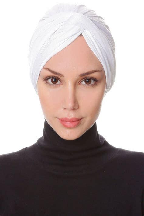 belinay white turban ecardin hijab
