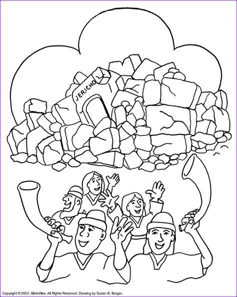 print version joshua wall  jericho coloring page kids