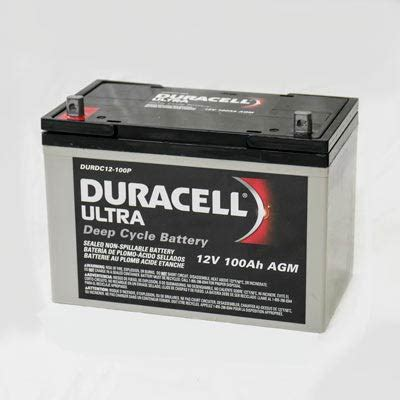 agm batterie 100ah wkdc12 100p duracell ultra 12v sla sealed lead acid 100ah cycle agm battery at batteries