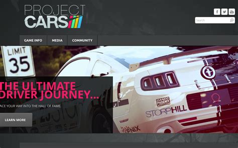 Cars Official Website by Project Cars Official Website Launched Virtualr Net