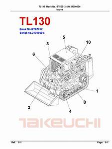 Takeuchi Parts Manual Tl130 Bt8z012 21300004