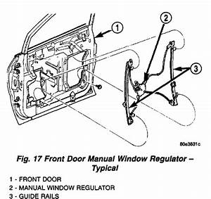 Service Manual  1996 Chrysler Town Country Door Key Lock Removal