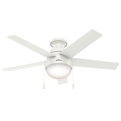 small low profile ceiling fans hunter anslee 46 in indoor low profile fresh white