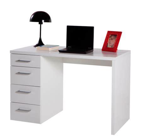 bureau simple blanc bureau 4 tiroirs blanc