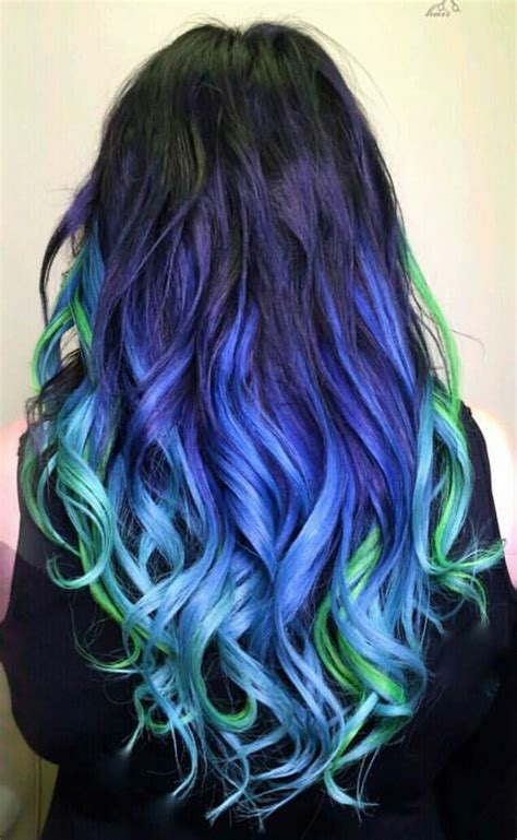 25 Best Ideas About Blue Green Hair On Pinterest Crazy