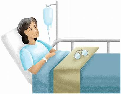 Bed Patient Highlights Spotlight Hospital Lying Woman