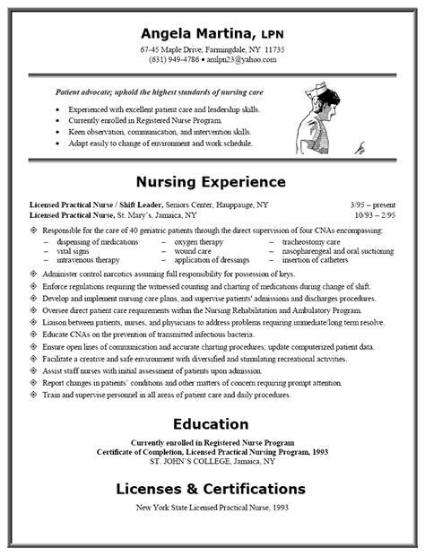 sample resume licensed practical nurse resume sample for lpn nurse