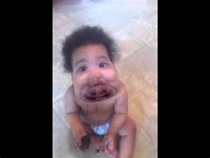 OMG! Worlds fattest baby eating an Oreo cookie - YouTube