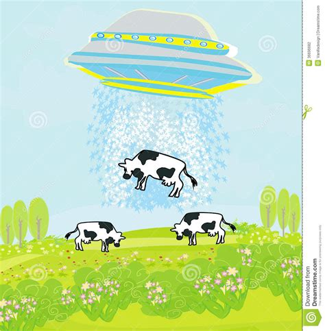 cow abduction l alien cow abduction stock vector image of space metal 36696682