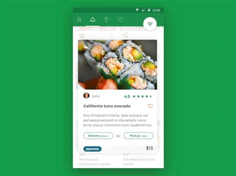 application android cuisine food app android material design by christophe kerebel