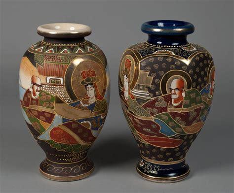 japanese vases 2 japanese satsuma vases
