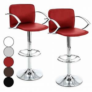 Chaise De Bar Rouge : chaise bar avec accoudoir ~ Teatrodelosmanantiales.com Idées de Décoration
