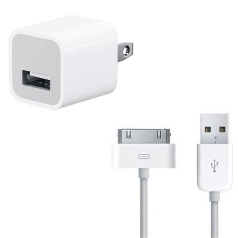 iphone 4 charger iphone 4 4s 30 pin usb cable wall charger bundle