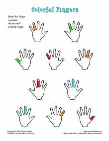 Finger Numbers Piano Worksheet
