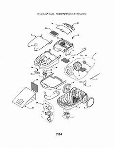 Kenmore 11629319215 Canister Vacuum Parts