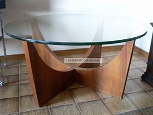 Glastisch Rund 50 Cm : danish design tisch 60er 70er couchtischteak holz rund wohnzimmer glastisch ~ Indierocktalk.com Haus und Dekorationen