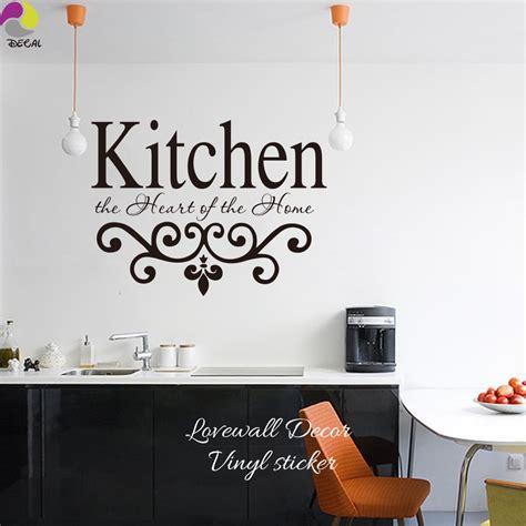 kitchen  hearts   home quote wall sticker kitchen