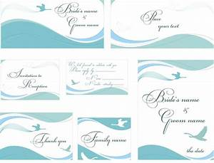 Gentle wedding invitation templates vector | Vector ...