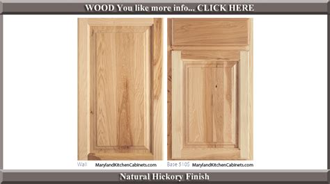 hickory kitchen cabinet doors 510 hickory cabinet door styles and finishes 4196
