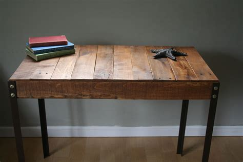 wood and iron desk rustic reclaimed wood desk table with industrial iron legs