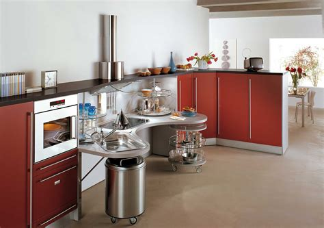 ergonomic italian kitchen design suitable  wheelchair