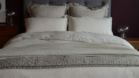 Vintage Wash Linen  Limestone Bedding  Natural Bed Company
