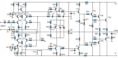 Component Audio Amp Schematic Car Stereo Amplifier With