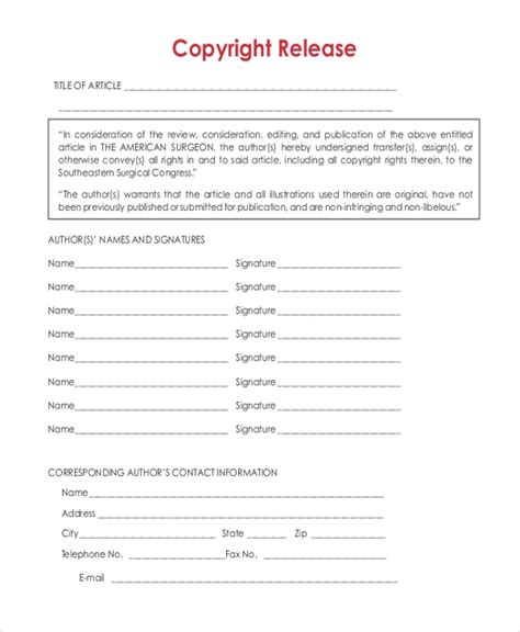 FREE 23+ Sample Release Forms in MS Word   PDF   Excel
