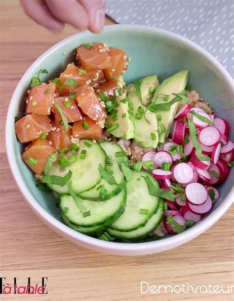 recettes de cuisine fr3 poke bowl saumon avocat pour 1 personne recettes à